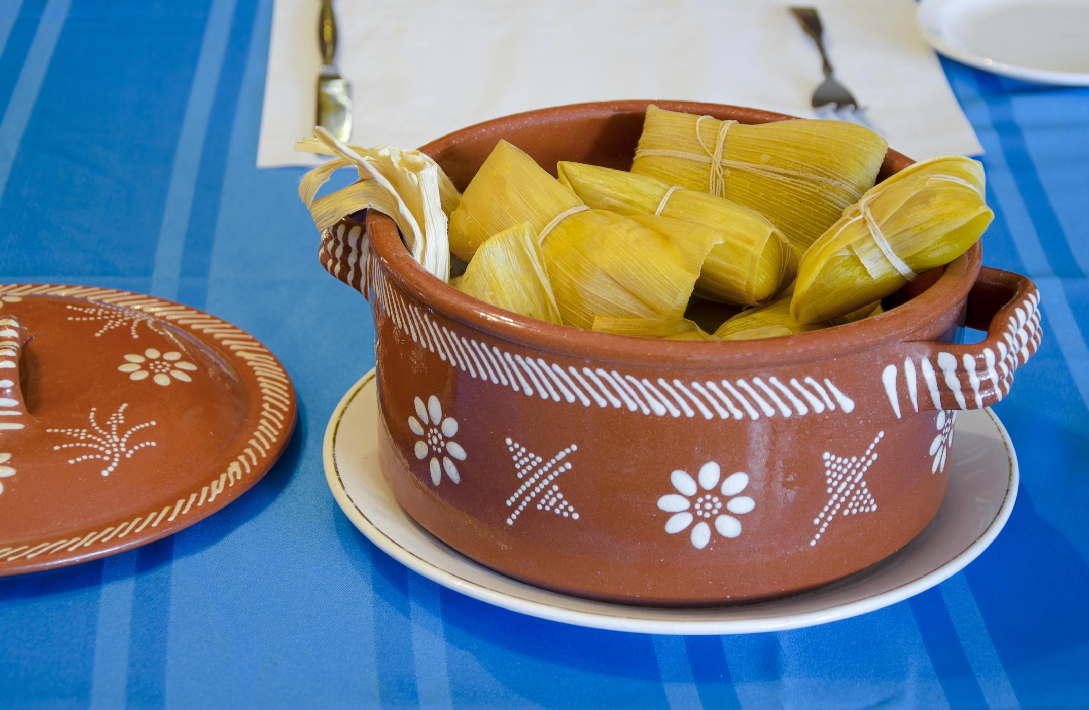 Tamales de maiz dulce
