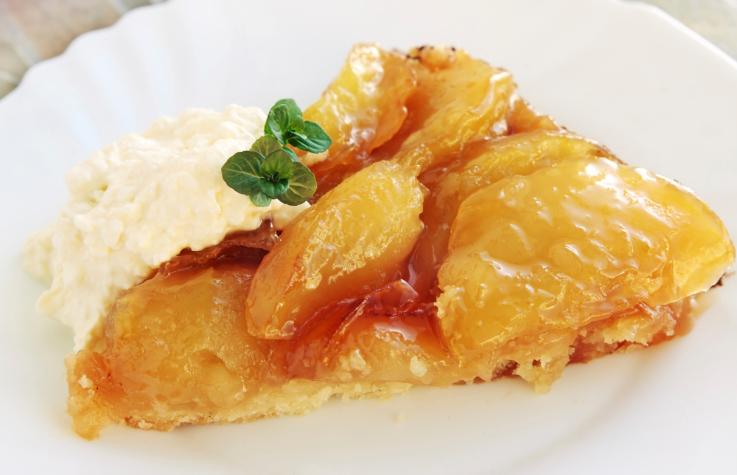 tarta de manzana con queso crema