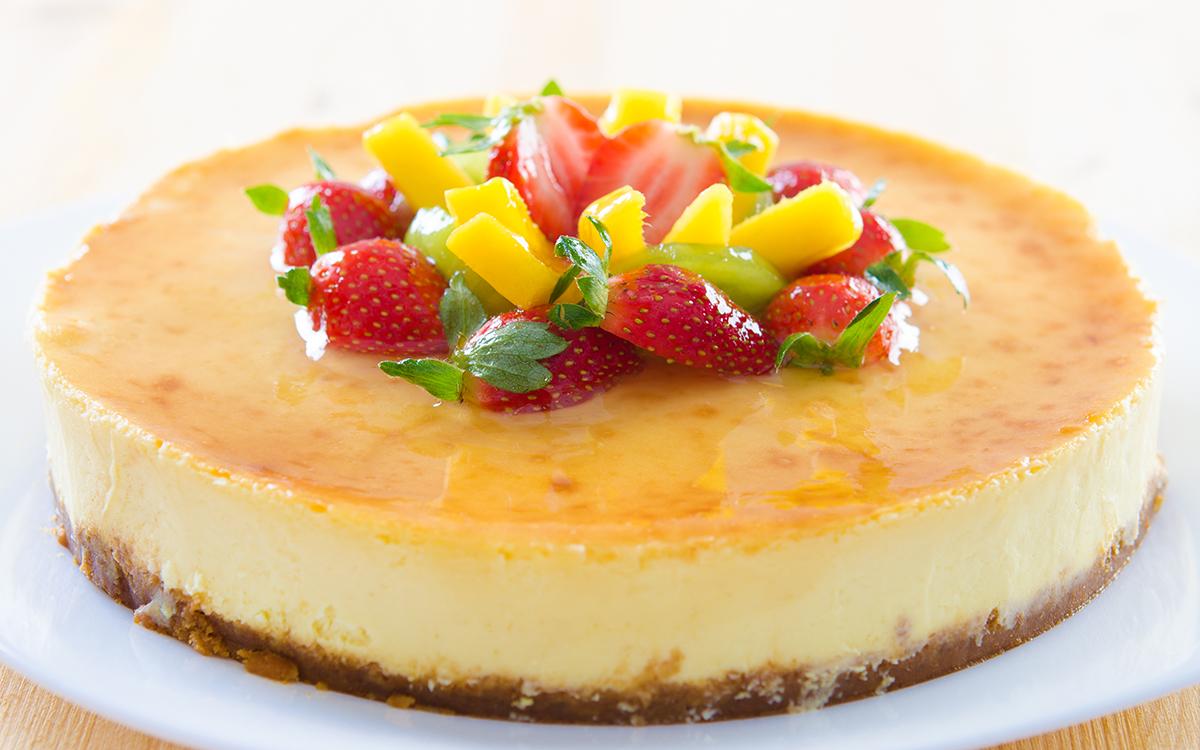 Tarta de queso con frutas 3 veces SIN (sin lactosa, sin gluten, sin azúcar)