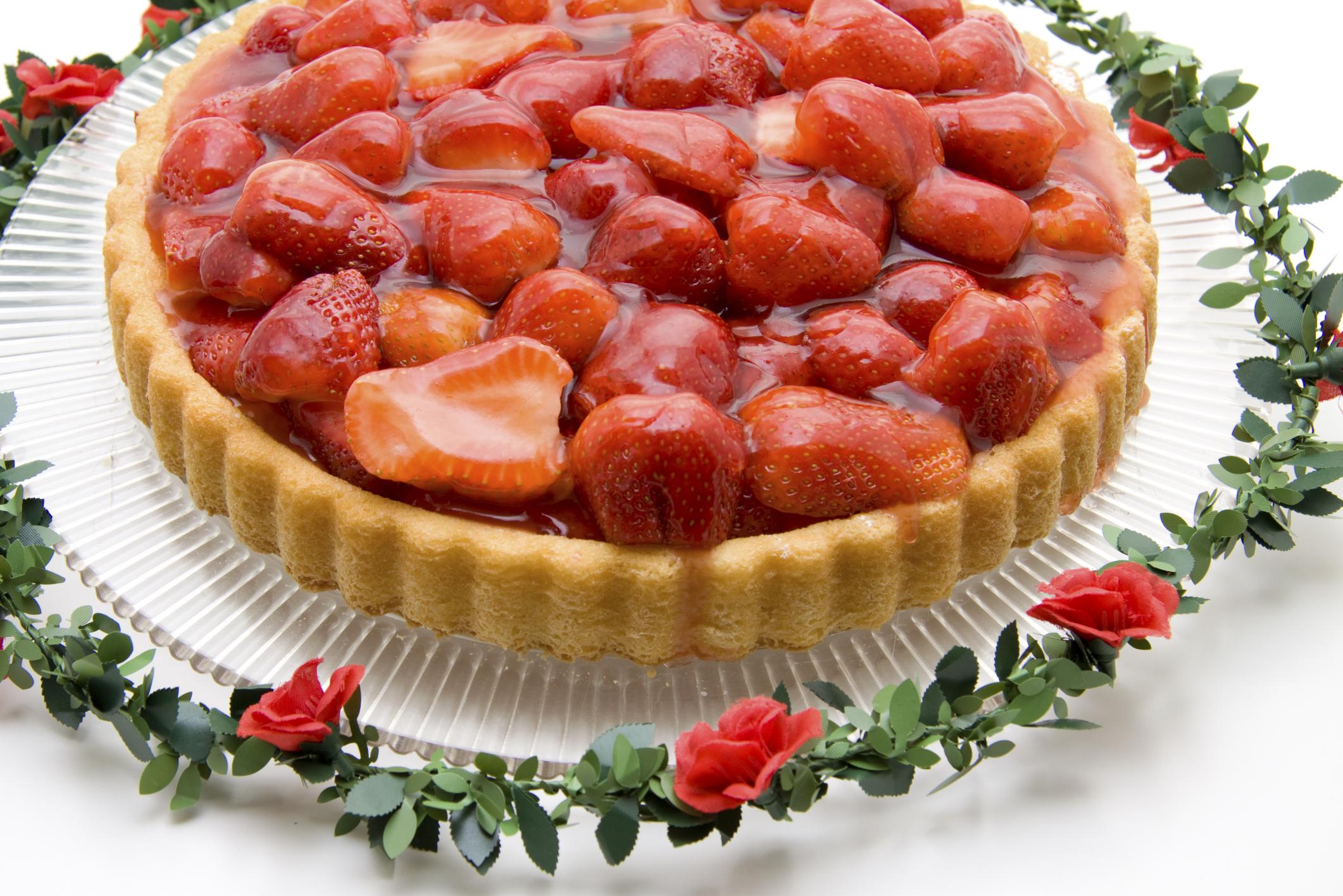 Tarta de fresas cremosa