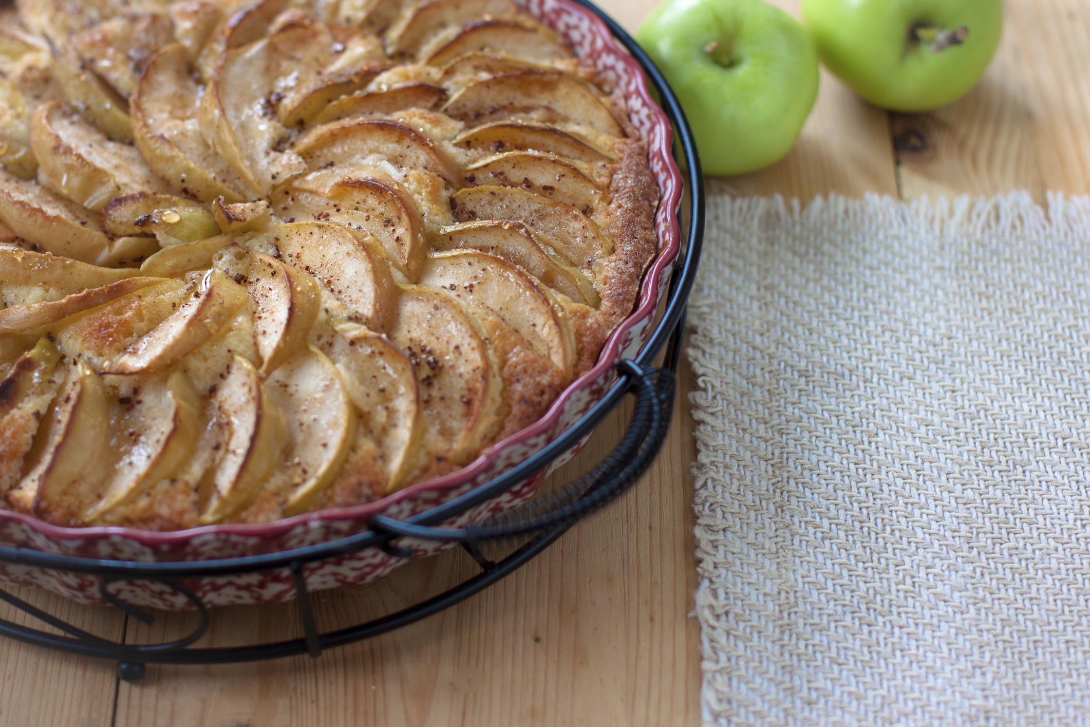 Tarta hojaldrada de manzanas