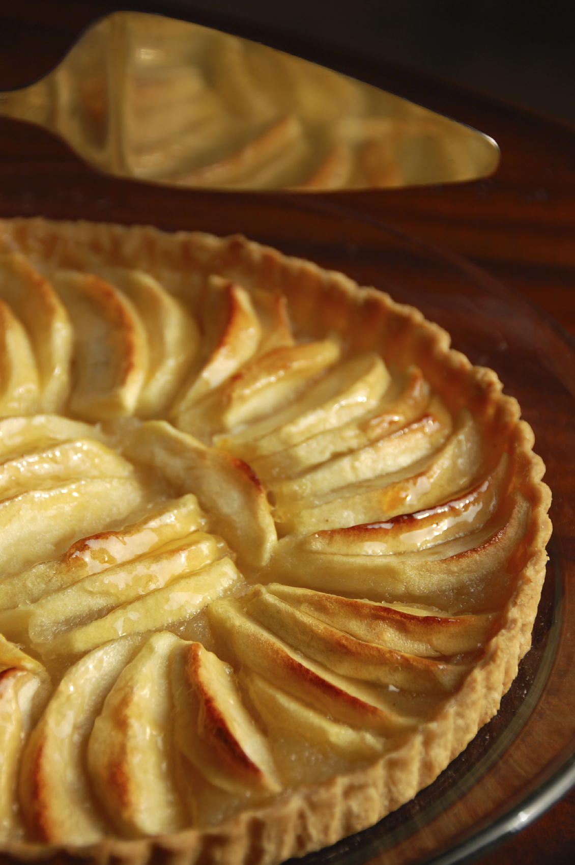 Tarta de hojaldre con manzana para diabéticos