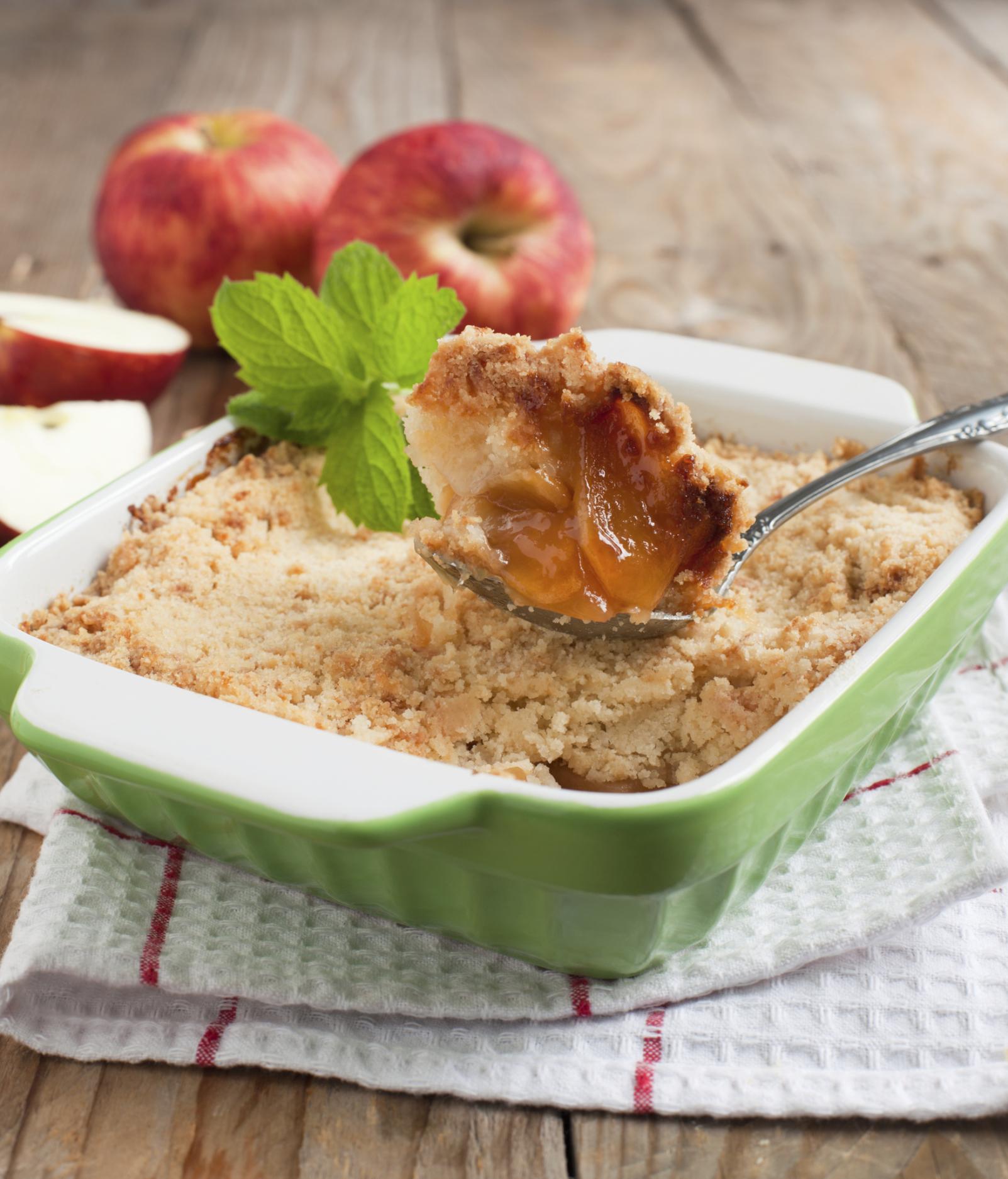 Tarta de manzana para niños