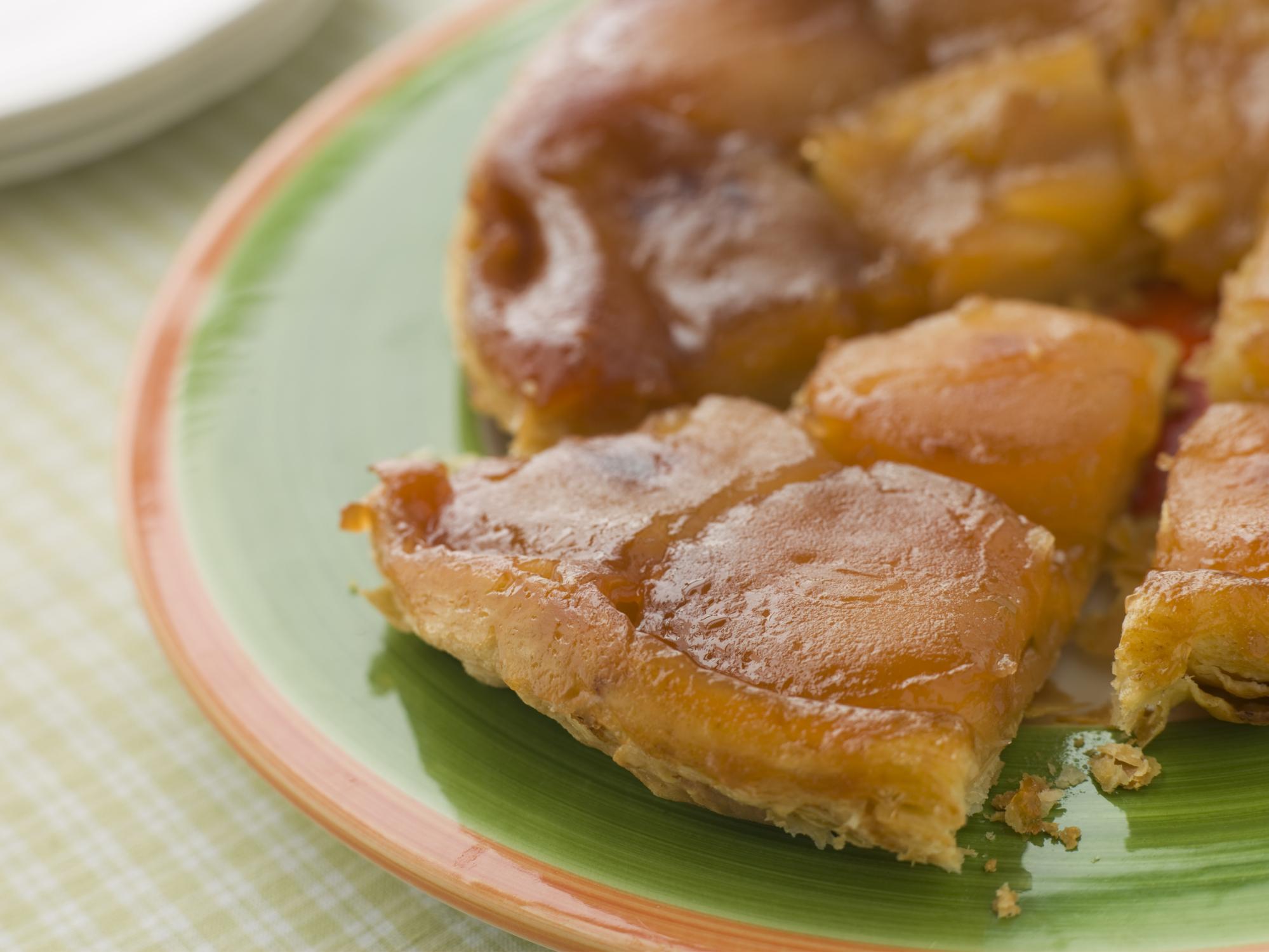 Tarta de manzanas con canela y ron