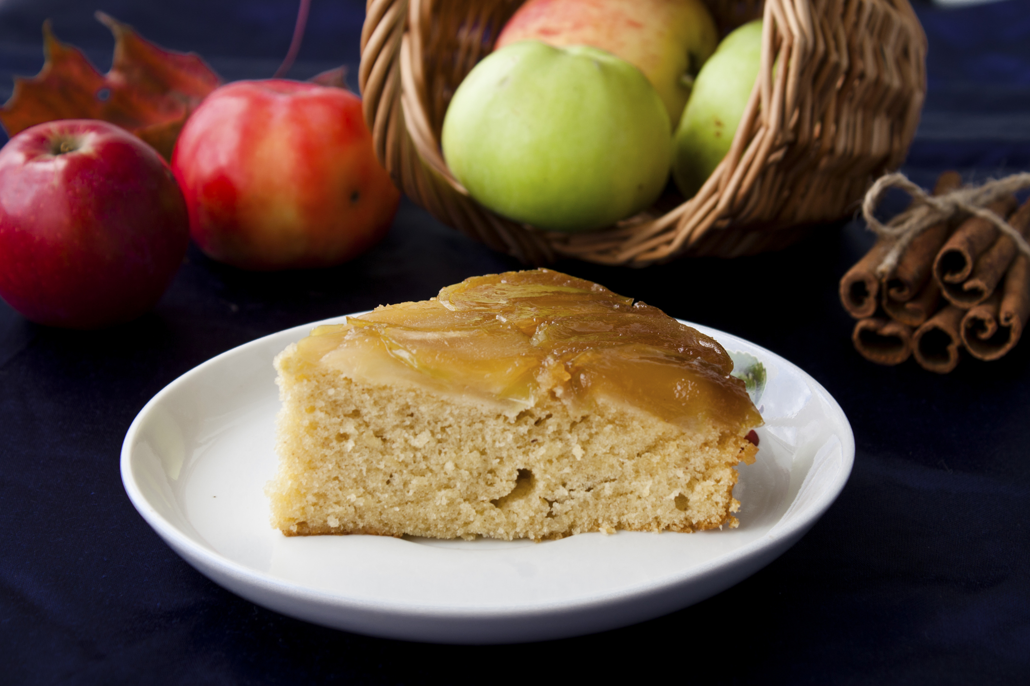 Tarta de manzanas verdes y miel