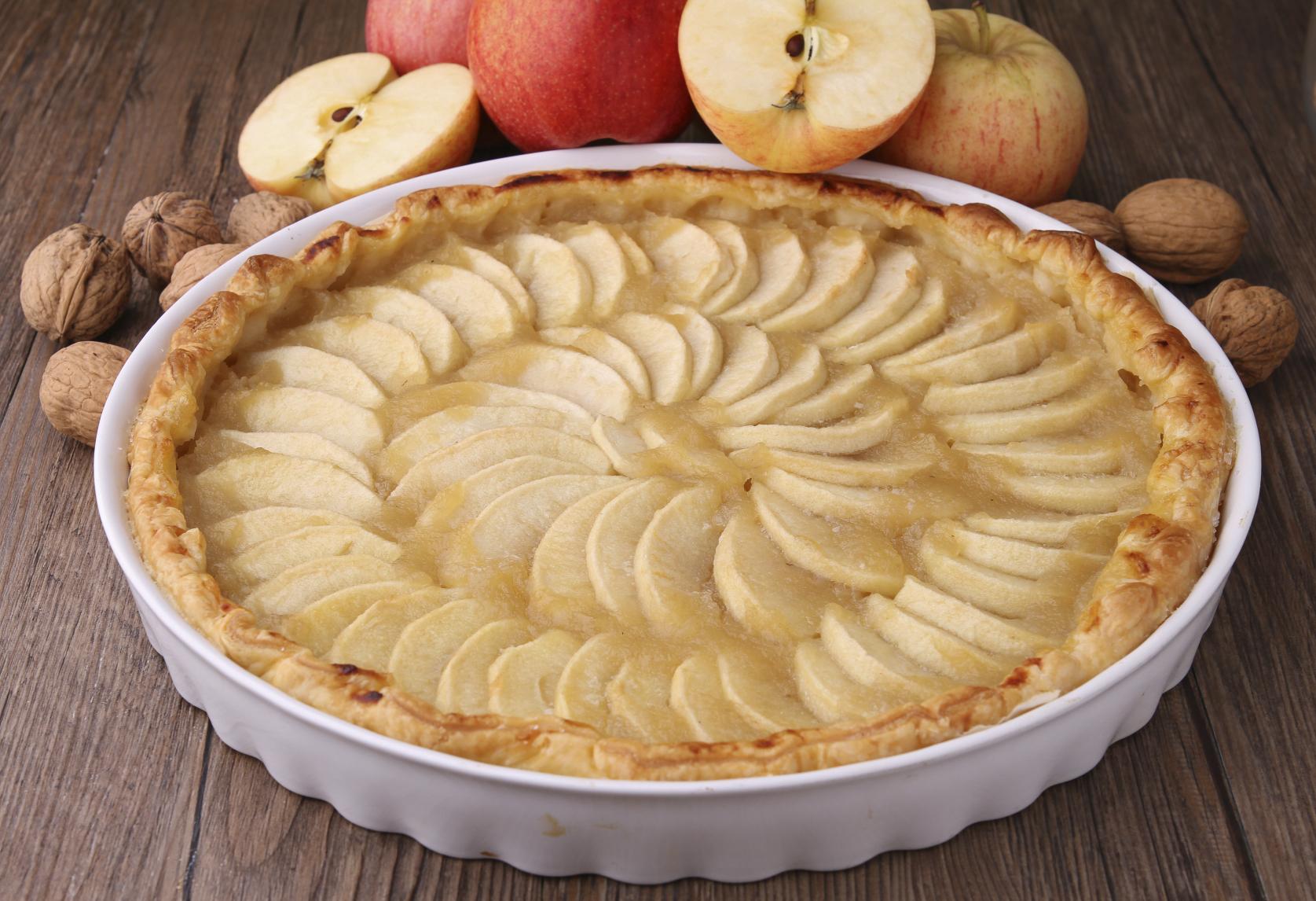 Tarta de manzanas con yogur