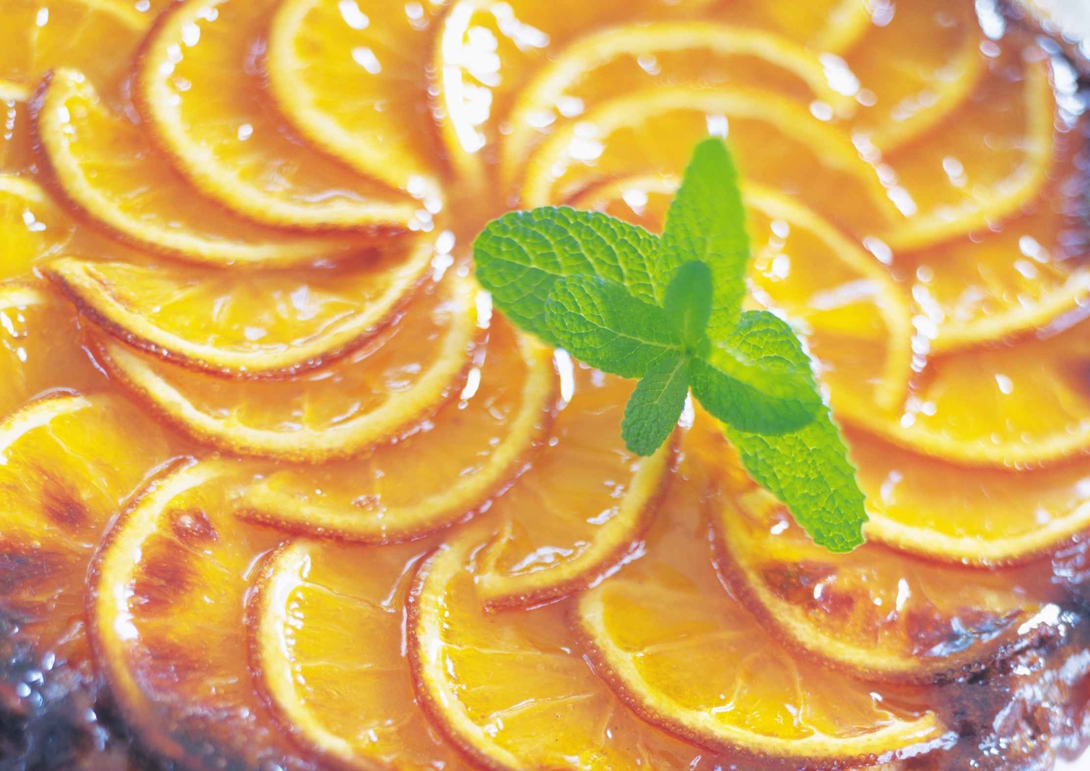 tarta de naranja y mazapán