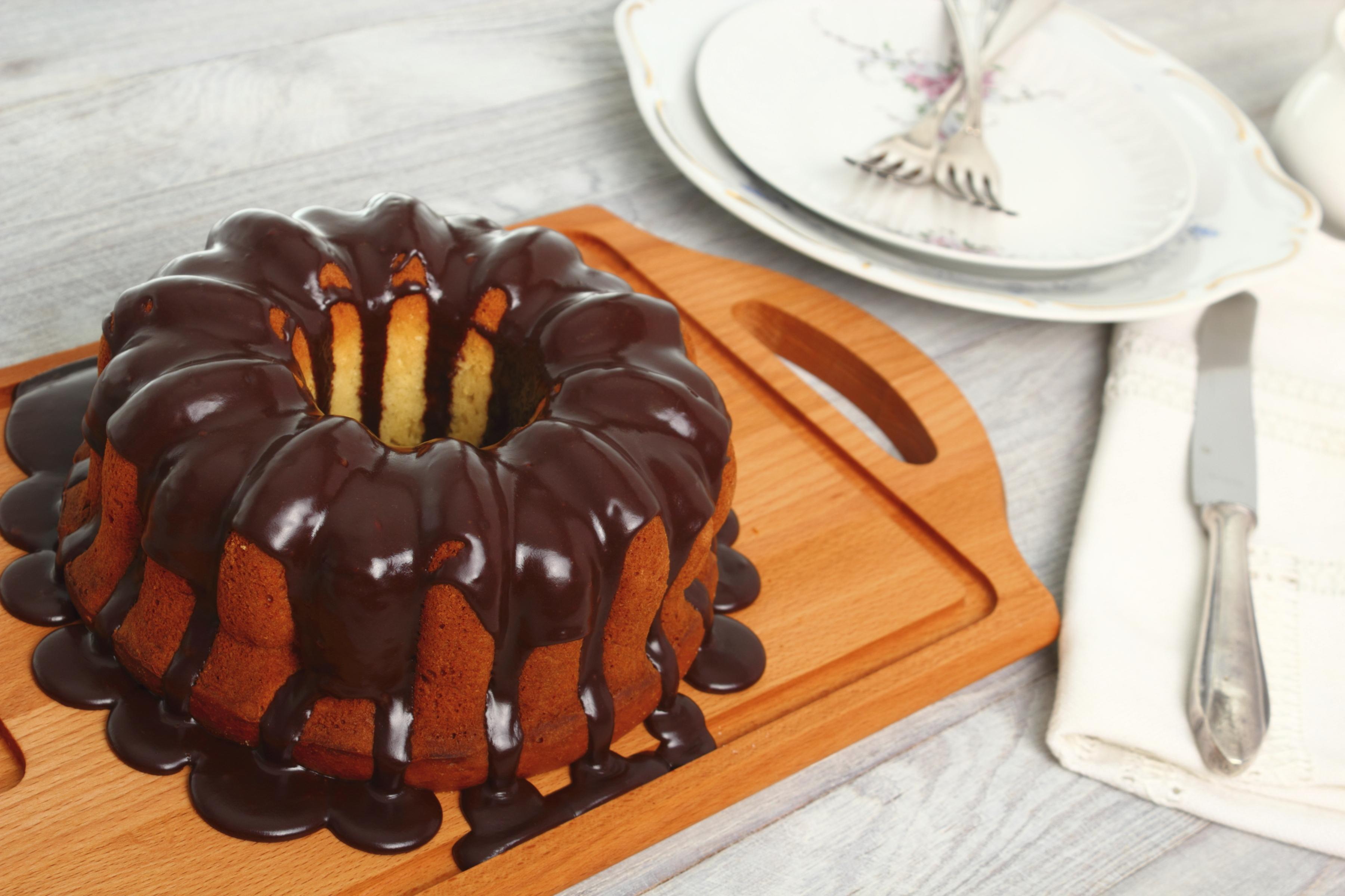 Tarta simple de chocolate