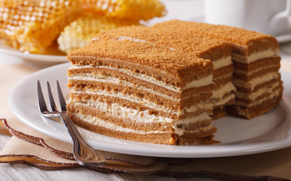Tarta de galletas y miel