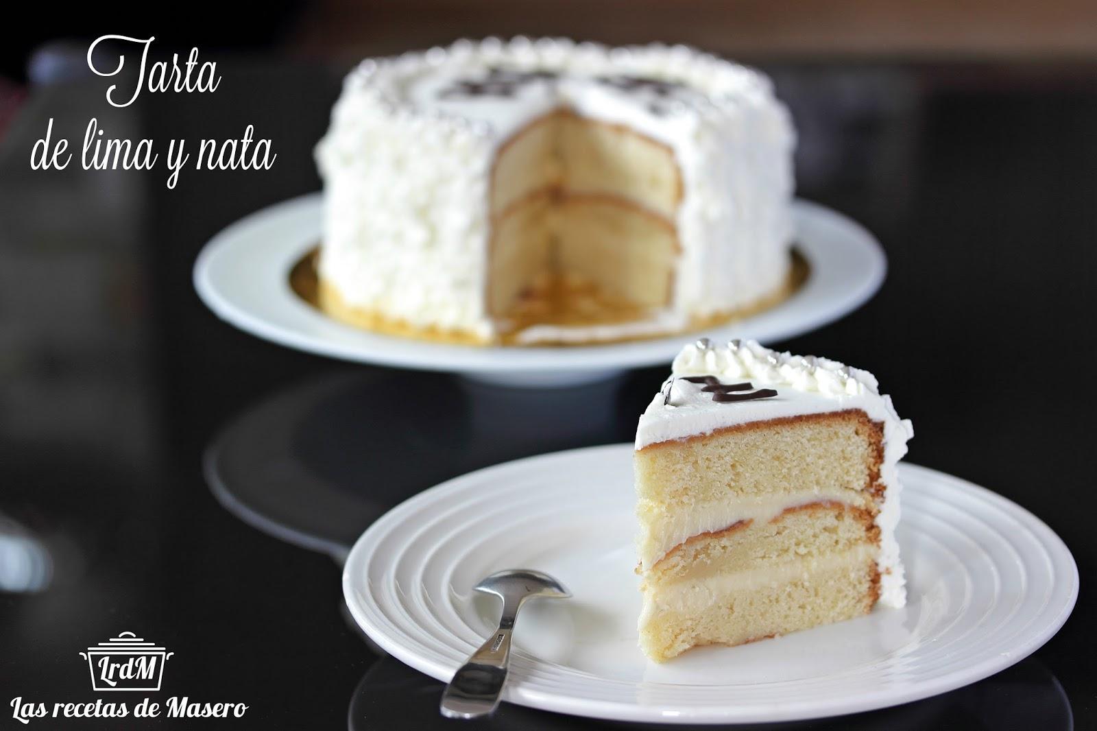 Tarta de lima y nata