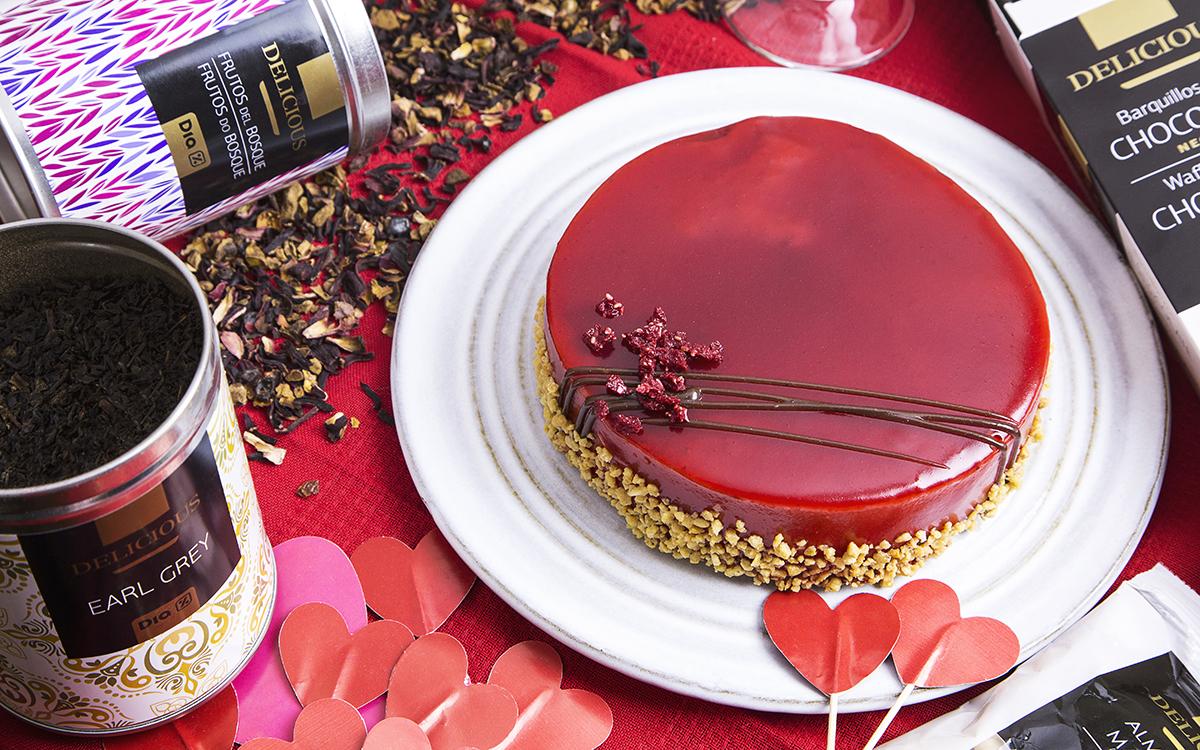 Tarta de frutos rojos para San Valentin