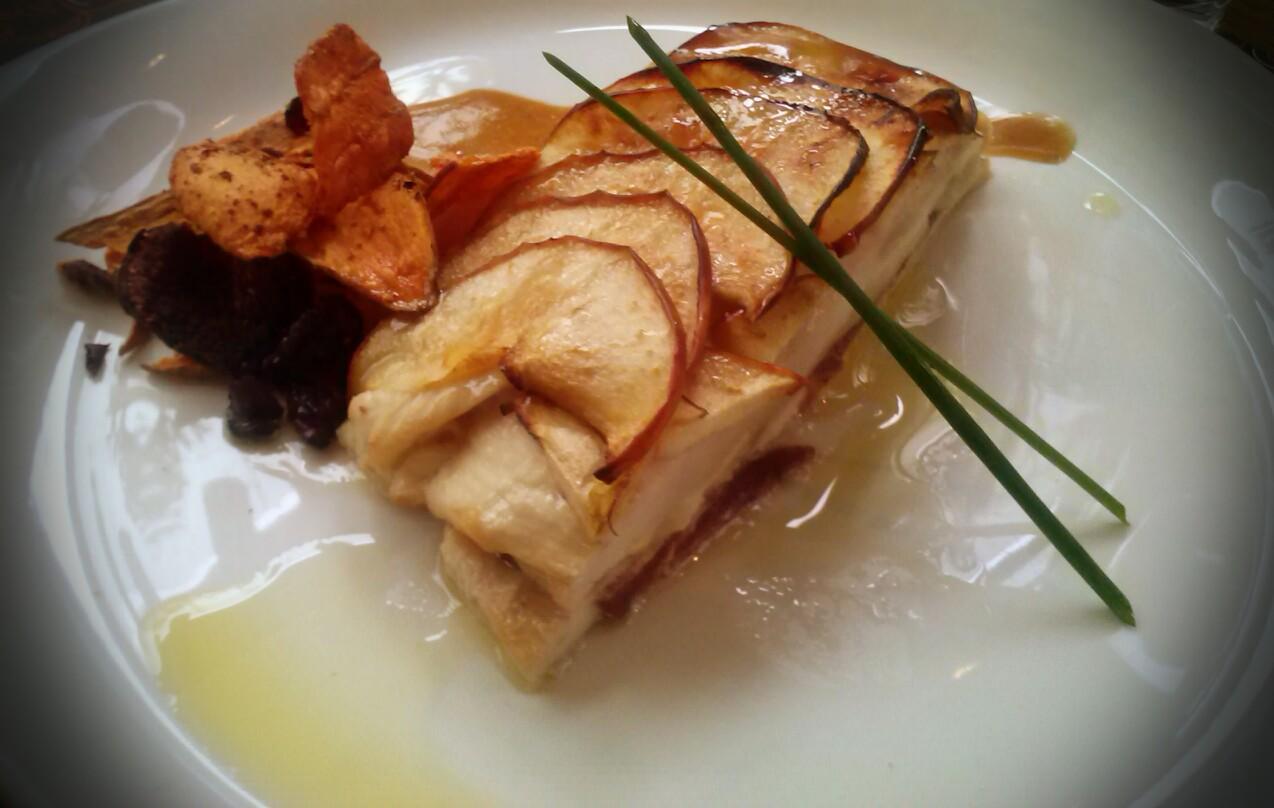 Tarta de Pollo con Manzana