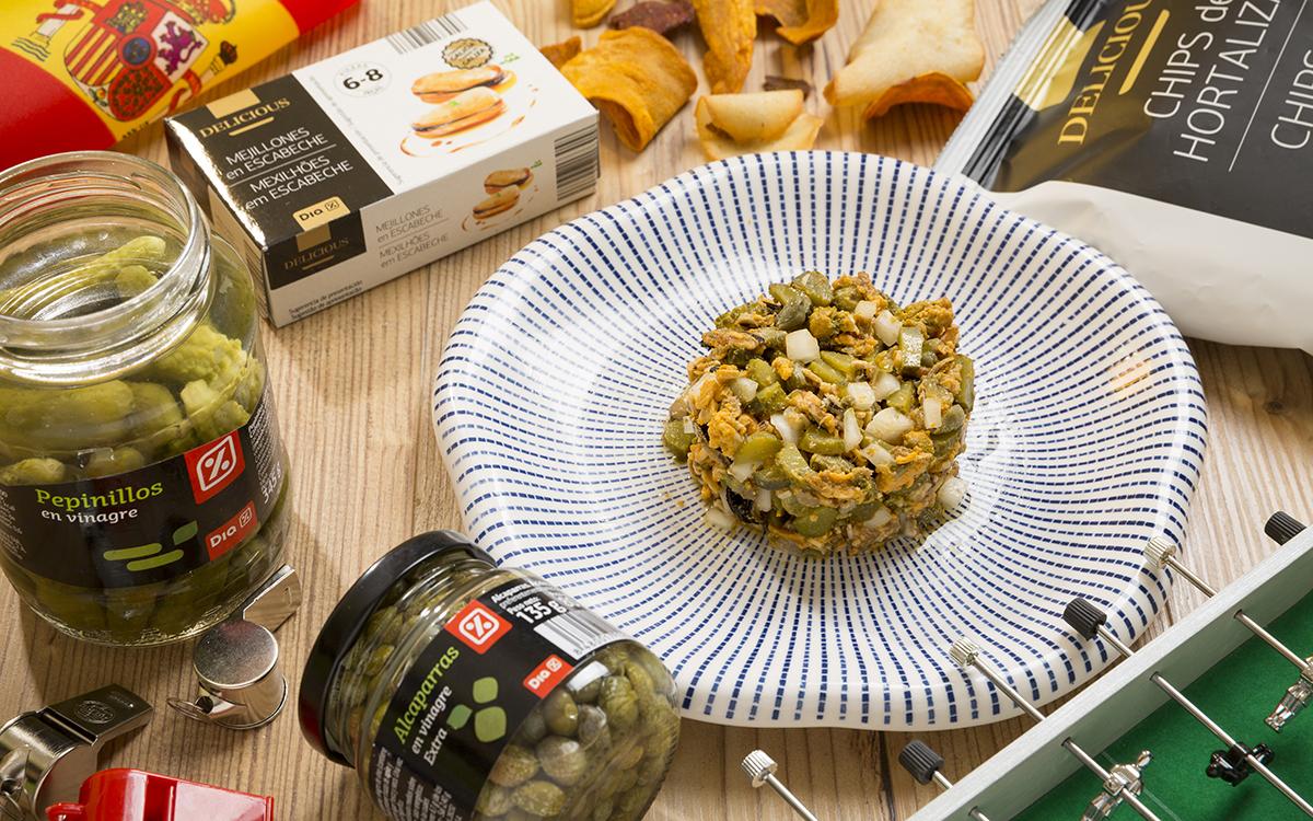 Tartar de mejillones en escabeche