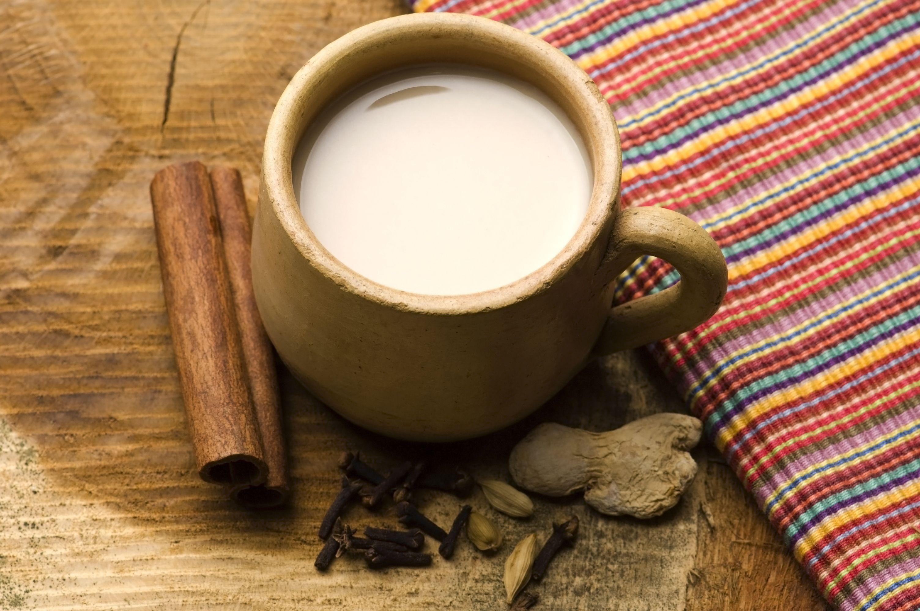 Té Chay Masala con leche de cereales (sin Lactosa)