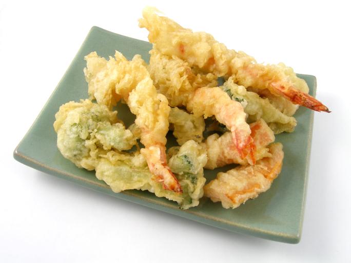 Tempura de langostinos y verduras - receta de usuario