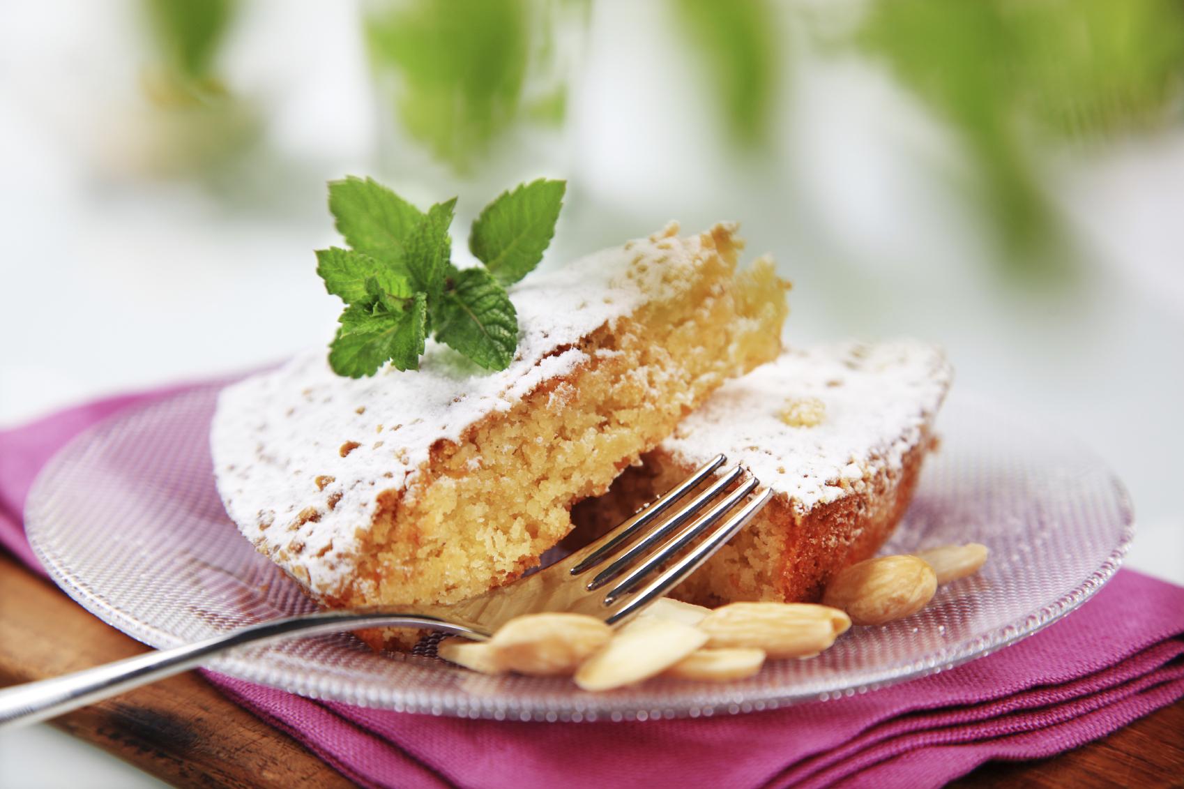 Torta de almendras y amaretto