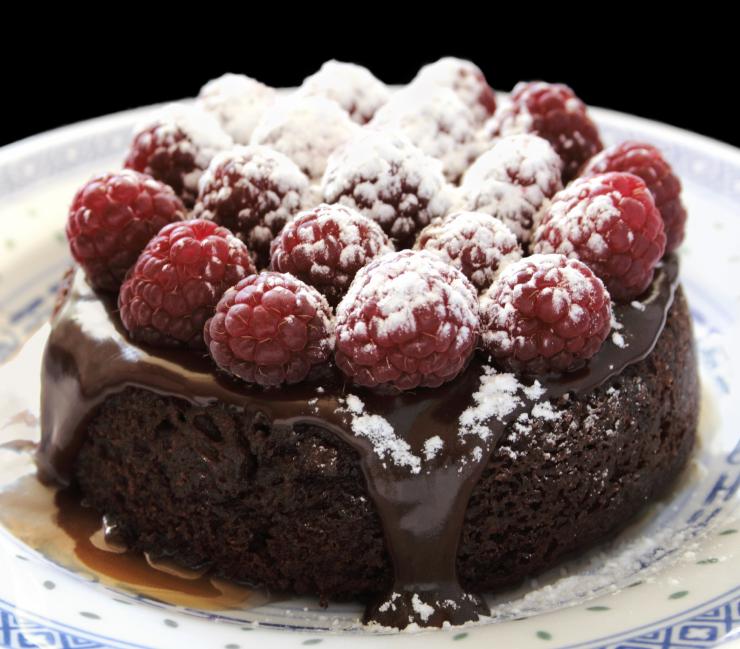 Torta de chocolate para cumpleaños