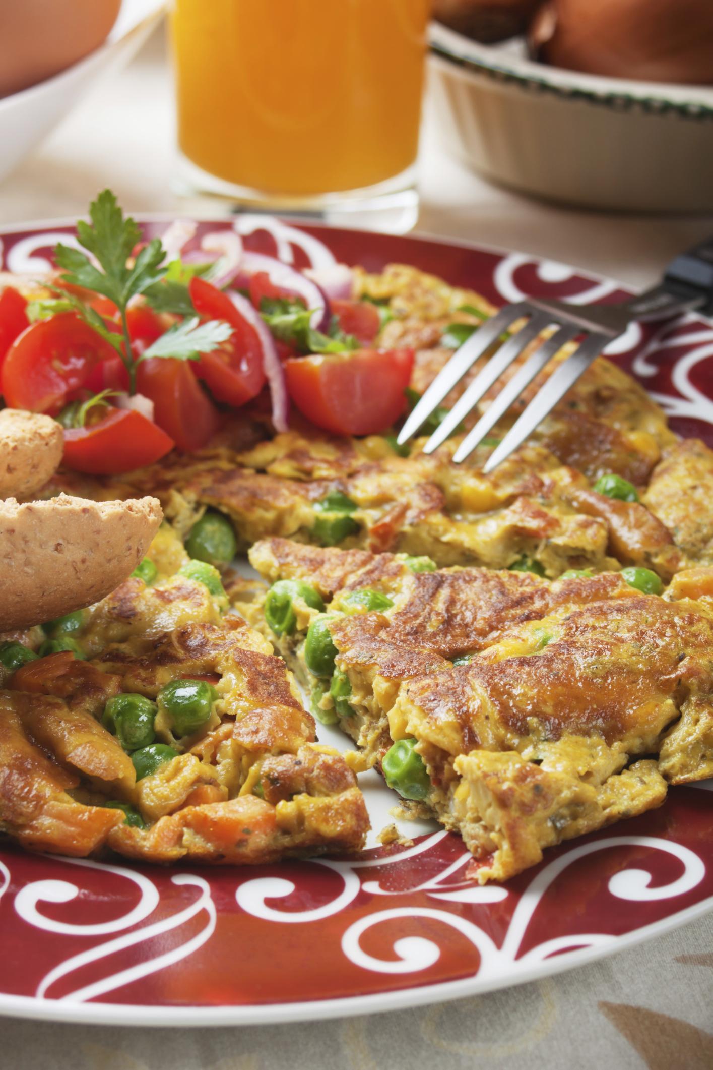 Tortilla natural con verduras