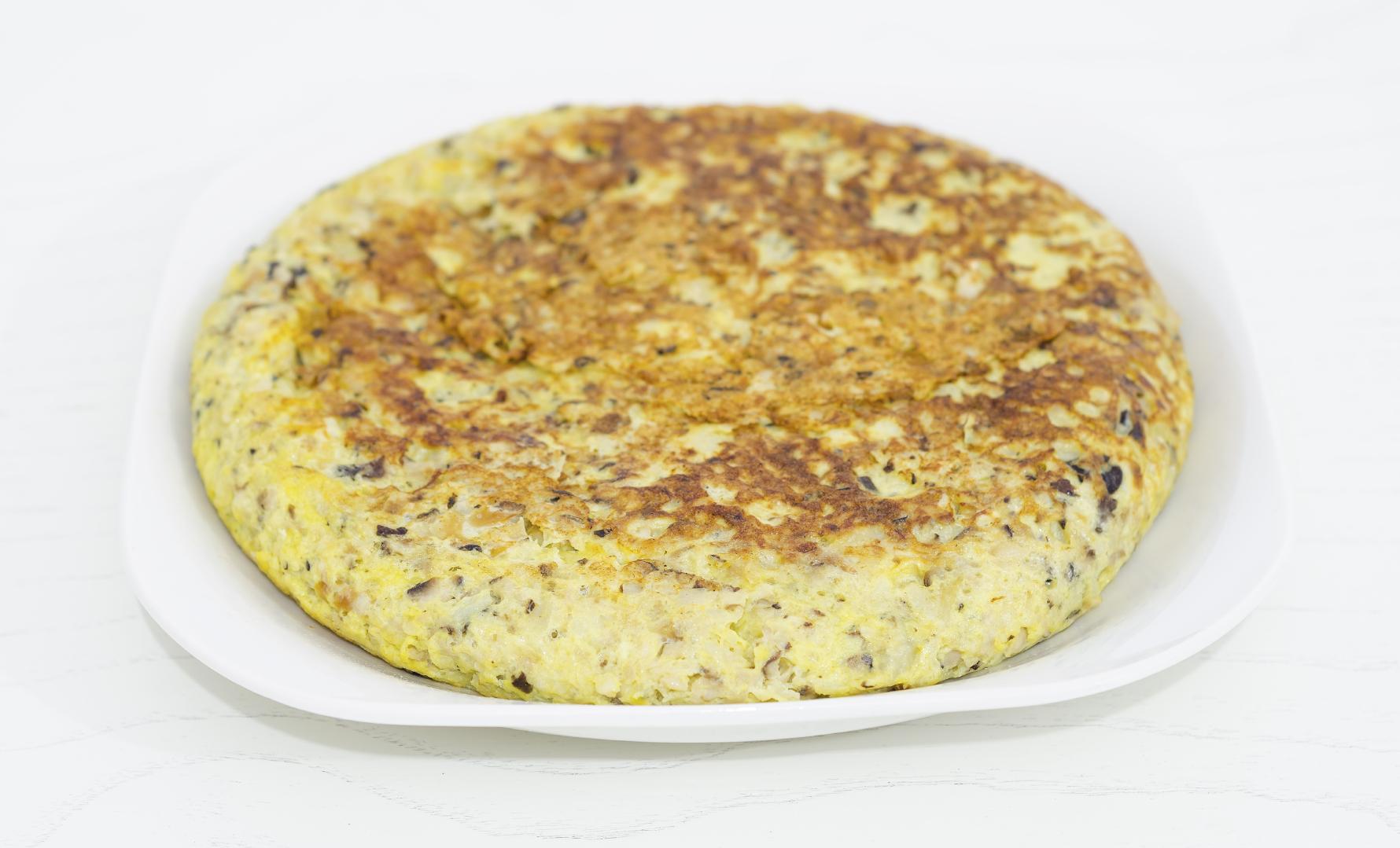 Tortilla de patata con berenjena fácil