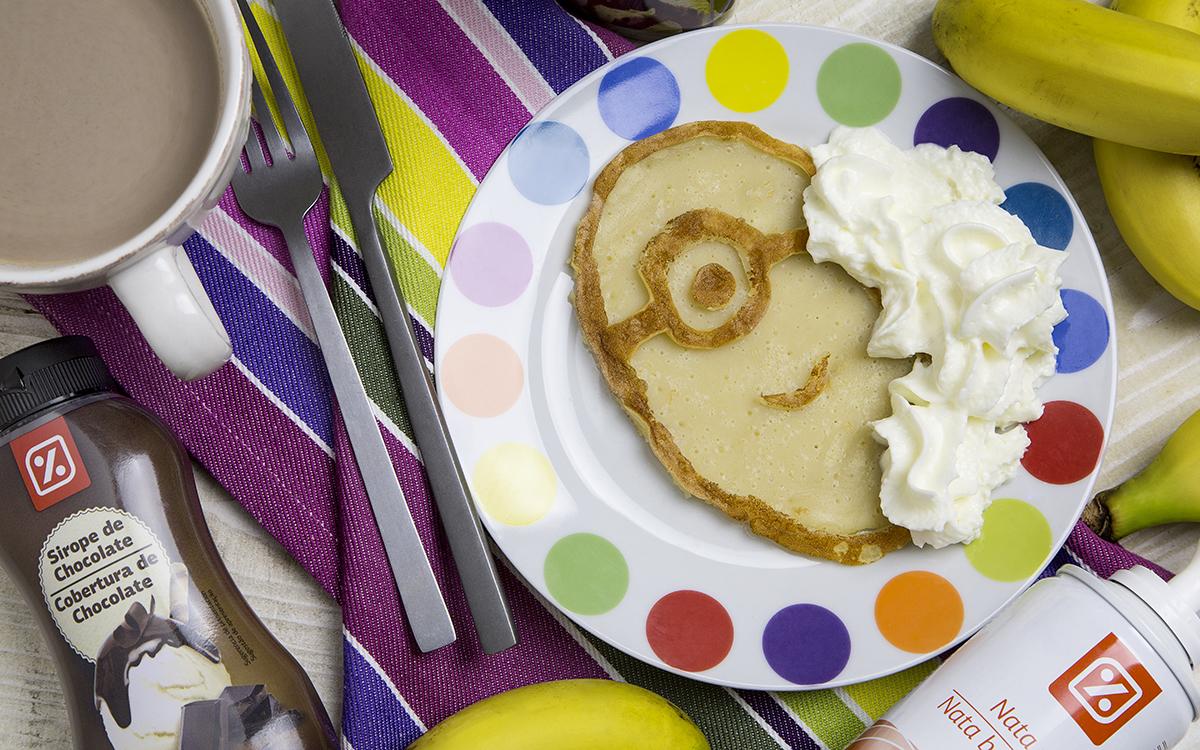 Tortitas Minion de desayuno
