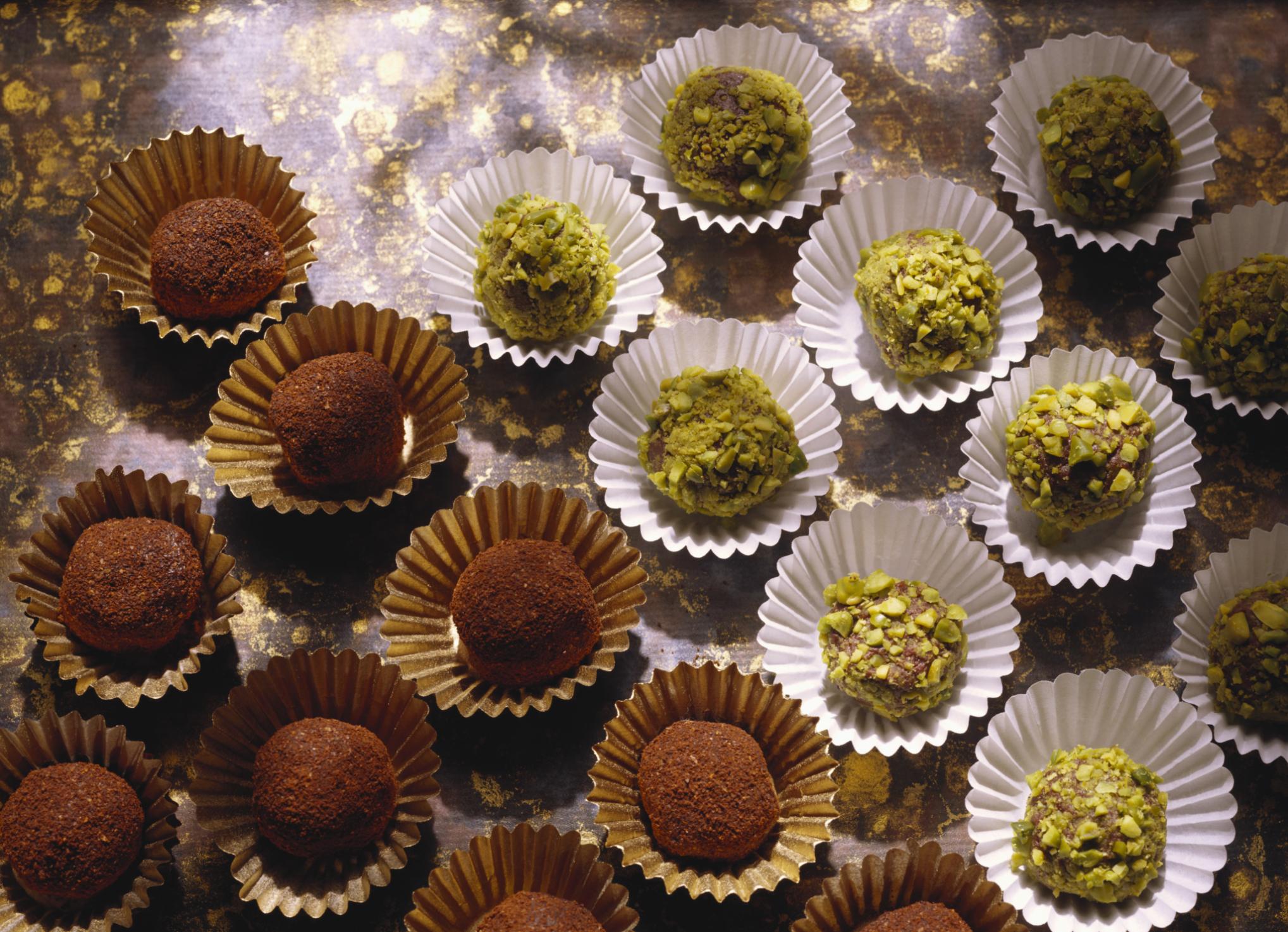 Trufas de chocolates Navideñas