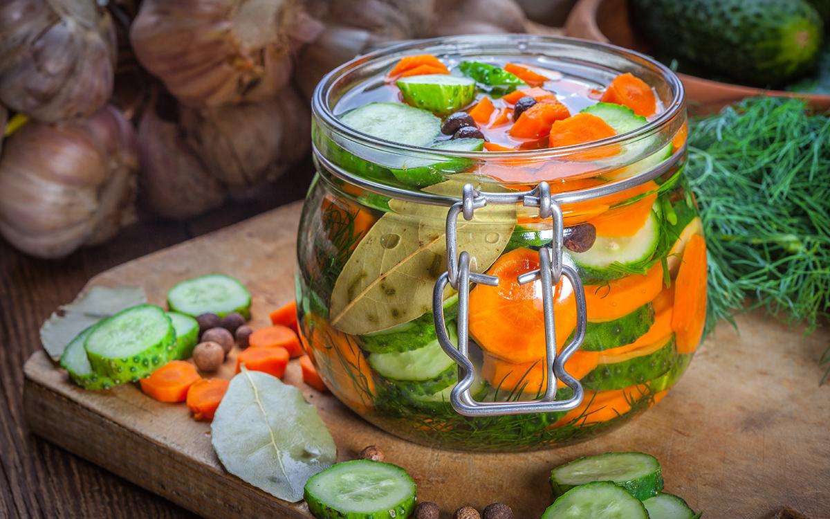 Verduras encurtidas o pickles