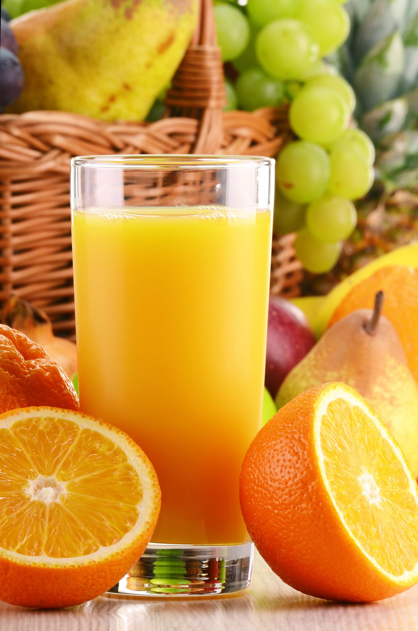 Zumo de frutas saludables